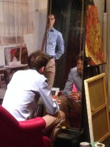 Paul Bariou et Pierre Karcenty en répétition